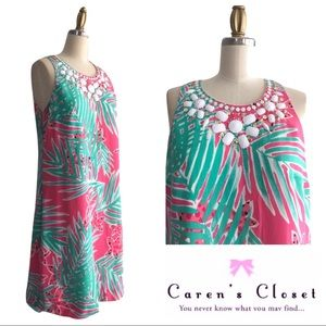 Lilly Pulitzer Tropical,Print Silk Shift Dress